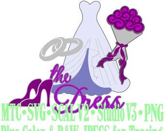 Wedding Bride #02 Embellishment Cut Files MTC SVG SCAL Format and more traceable