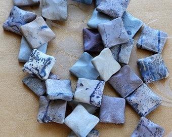 ON SALE Semi-Precious Agate Stones, Beige, Gray, Supplies, Jewelry Making