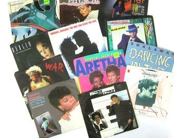 vintage 1980s Records Vinyl 45s Retro Music Lot of 12 Collection 45 RPMs Michael Jackson Berlin Bruce Springsteen Elton John Dire Straits