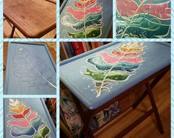 Repurposed TV Tray/ Table