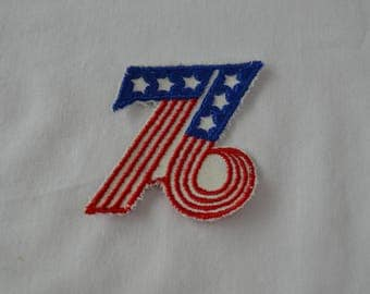 Vintage 76 sew on patch 1776 1976 bicentennial