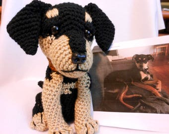 Crochet Dog, Custom Made to Look Like Owner's Dog, Canine, Stuffed Dog, Look Alike, Pet Memorial, Pet Remembrance, Custom Dog