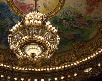 Paris Photography, Paris Opera House, Parisian Architecture, Chegal Ceiling, Opera Garnier Paris, Rebecca Plotnick Photography