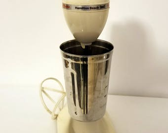 Hamilton Beach Vintage Milkshake Drink Malt Mixer in Almond Color Functional
