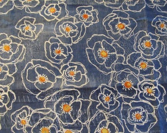 Free Shipping! Poppy Silhouette by Laura Gunn for Michael Miller. 1/2 Yard. 17021