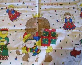 Free Shipping! Sue Dreamer Apparel Art for Fabric Country. Christmas Panels. 17066