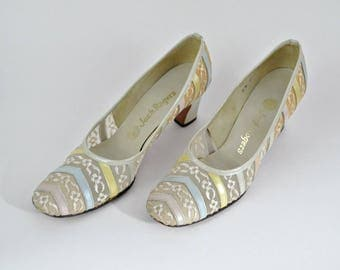 Vintage Lace and Pastel Pumps by Jack Rogers - Size 6N