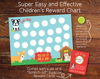 Reward Chart, Behavior Chart, Rewards System for Kids with Reward Prize Cards