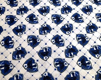 NEW!!  Harry Potter House of Ravenclaw Crest Cotton Fabric sold by the yard