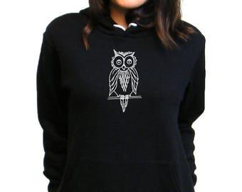 Owl Hoodie - Owl Hoody - Bella Canvas Pullover Hoodie - XS, S, M, L, XL, 2XL