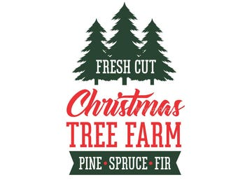 Christmas Tree Farm Decal, Decal for Sign, Fresh Cut Tree Sign, Vinyl Letters, Chalkboard Decal, Country Farmhouse Style, Christmas Decal