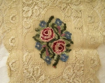 Sweetest Vintage Petite Point Lace Boudoir Vanity Table Mat