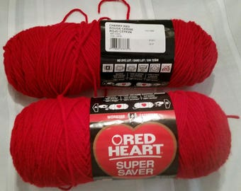 Destash Red Heart Acrylic Yarn
