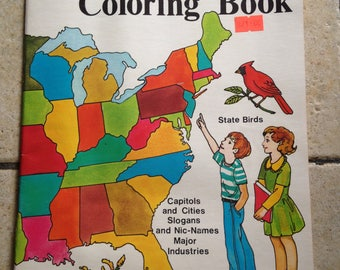 1980 50 States Coloring Book