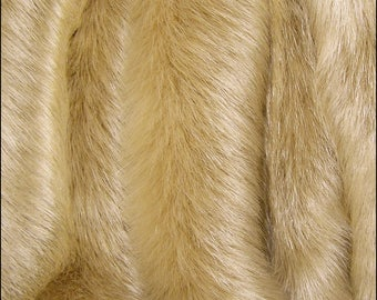 FAWN Solid Mink FAUX FUR Gold Golden: Available for Sale on September 7th