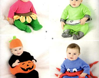 Simplicity 2323 Sewing Pattern - Babies Halloween Costumes - Sizes XS-S-M-L