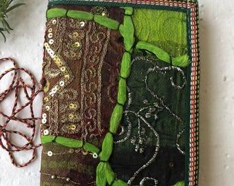 Sari Cover Journal, Wedding Wishlist Log, Blank Journal, Wedding Favor, OOAK Gift, Engagement Gift, Blank book, Bridesmaid Gift, Giveaways