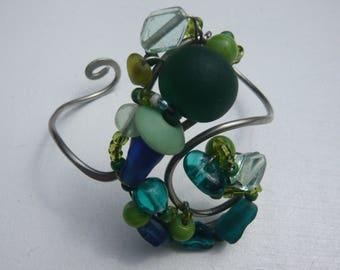 "Baroque bracelet ""Blue Lagoon"", OOAK"