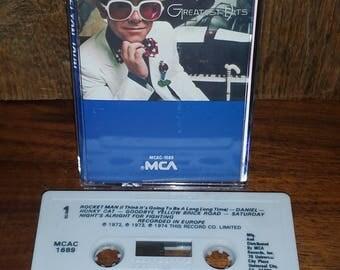 Elton John Greatest Hits Vintage Cassette Tape