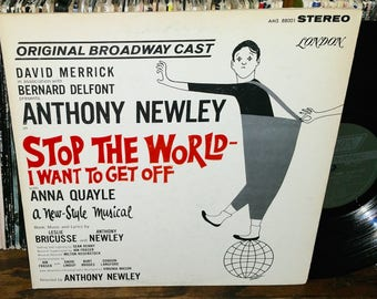 Stop The World I Want To Get Off Vintage Vinyl Broadway Soundtrack Record