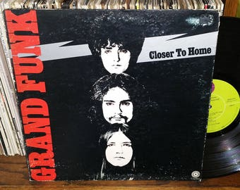 Grand Funk Closer To Home Vintage Vinyl Record
