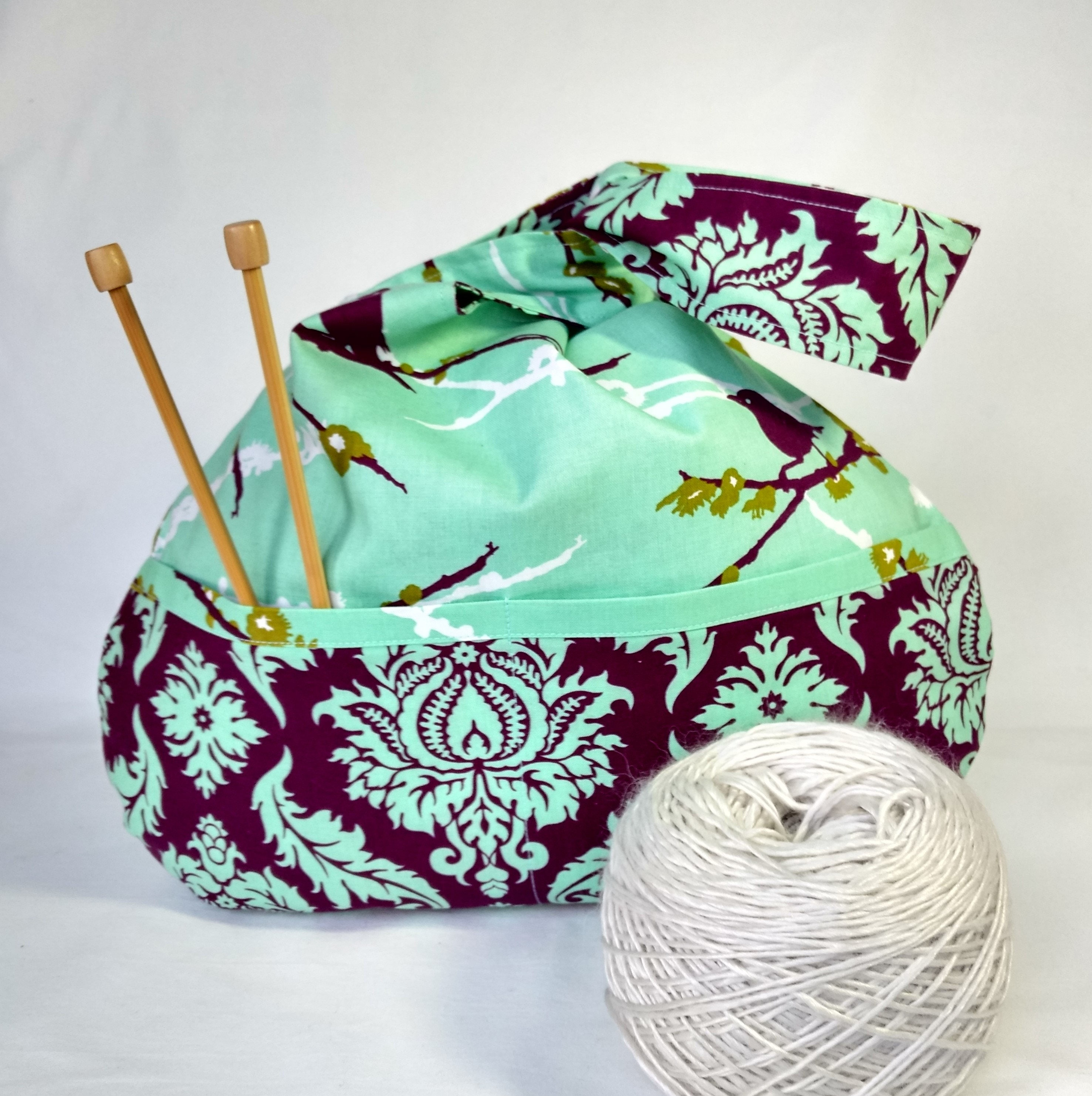 Knitting Project Bags For Sale : Sale knitting crochet project bag japanese knot