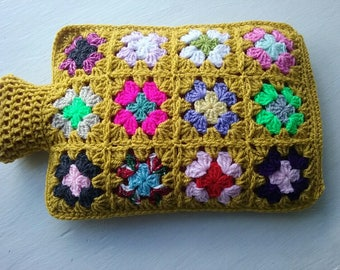 Hot Water Bottle Cover - Cozy cosy in Shades of a lovely Mustard colour