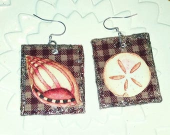 super sale papier mache earrings