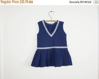 SALE // Vintage Navy Toddler Dress