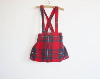 SALE // Vintage Plaid Girl's Jumper