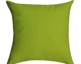 Solid Green Pillow, Chartreuse Green Accent Pillow, Solid Cotton Pillow, Green Decorative Pillow, Accent Cushion, Toss Pillow - Free ship