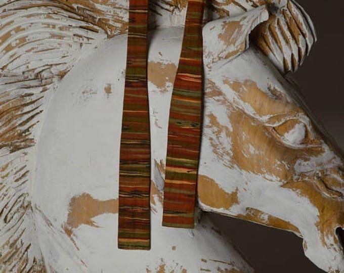 sale Vintage Bow Tie, Mens Bow Tie, Orange Bow Tie, Silk Bow Tie, Stripped Bow Tie, 80s Bow Tie, 1980s Bow Tie, Men's Ties, Necktie