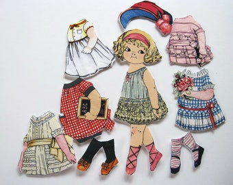 Child's Travel Toy  Fabric Paper Doll   Church toy  Angela