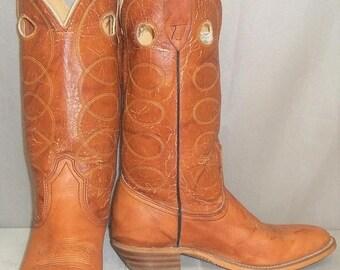 ON SALE Vintage Laredo Buckaroo Leather Cowboy Western Boots Girls Womens 7 1/2 B