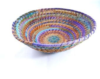 Fabric Wrapped Bowl, Desk Accessory, Home Decor, Batik Bowl