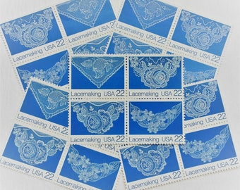 Blue Lace .. 22 cent stamps .. 20 postage stamps
