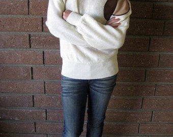 40% OFF Dolman Sleeved Batwing Knit Beige Sweater