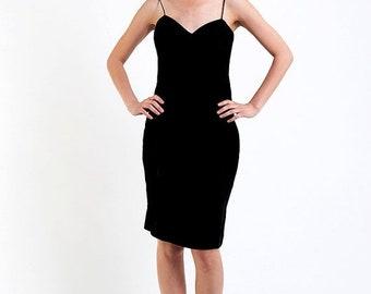 40% OFF The Vintage Black Velvet Pretty Woman Cocktail  Dress