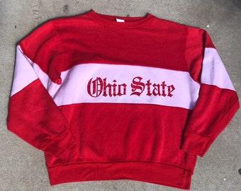 Ohio State Vintage Red Champion Crewneck Sweatshirt
