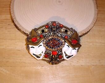 Victorian Halloween Pin Brooch Pendant Ant Brass OX By Caroline Erbsland OOAK Signed