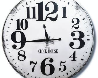30in WHITE Clock, Big white clock, Big clock, Farmhouse, Farmhouse decor, Large Clock, Large wall clock, The Clock House, PAULISON CLOCK