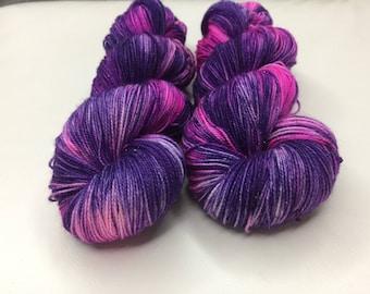Hand-dyed Stellina Merino Sock Wool 4 ply - Flower Power