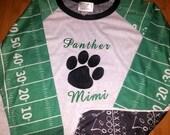Football/ football raglan/ football mom/ football shirt/ football season/ football fan/ football gear/ raglan shirt