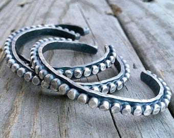 Sterling Silver Cuff Bracelet Handmade Cuff Bracelet By Wild Prairie Silver Jewelry