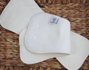 Hemp Snap in Super Booster for, Night time Cloth Diapering, Hemp Fleece, Doubler, Insert, PNPBaby, night time diaper, hemp fitted diaper