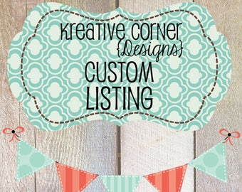 Reserved listing for Connie C