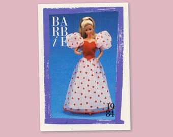 """Barbie Collectible Trading Card - """"Loving You Barbie"""" 1984 - Card No. 154 for Barbie collectors, dioramas, Barbie 5527-0166"""