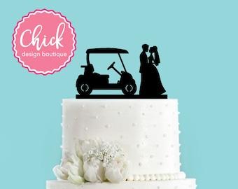 Country Club Wedding Golf Cake Topper (Acrylic)
