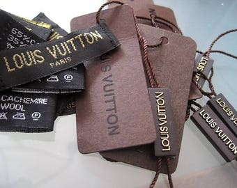 Set of 2 LV Louis  Vuitton Accessories Labels and Tags