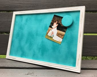 Framed Magnetic Board, Magnetic Photo Board, Tiffany Blue, She Shed Decor, Mom Cave, Command Center, Message Board, Dorm Decor